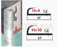 Zaobljeni profil PVC mramorizirani