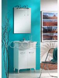 NICOLINI - FAST 56cm s nogicama, kup. orm./mon. 2 vrata s umivaonikom, ogledalom, mješalicom i sifonom