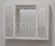 NICOLINI -  Toaletni ormarić GARDA s ogledalom, 2 vrata(staklo),  - bijeli
