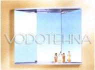 NICOLINI -  Toaletni ormarić VINTO 2 vrata, otvaranje na pritisak/bijeli