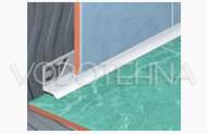 Profil za unutarnji kut PVC - bijeli