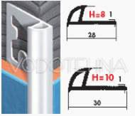 Zaobljeni profil PVC porculanizirani