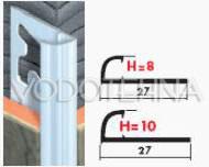 Zaobljeni profil aluminijski 8mm